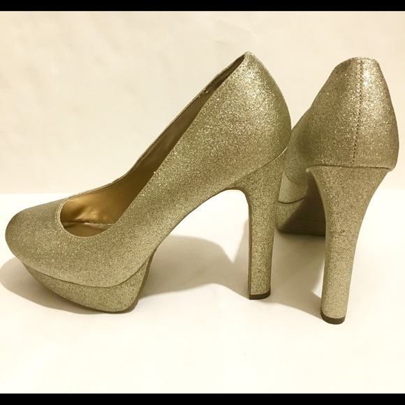 ae1d90ddbd Mossimo Supply Co. Shoes | Mossimo Gold Shimmer Womens Size 10 Heels ...